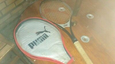 Rare vintage PUMA PRO LINE BECKER PRO Tennis racket with headcover