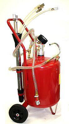 6 Gallon Oil Extractor Tank Fluid Evacuator w/ Adapters for Domestic or Import