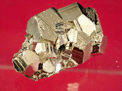 A Small Nice! and 100% Natural RHOMBIC Pyrite Crystal Cluster From Peru 65.9gr