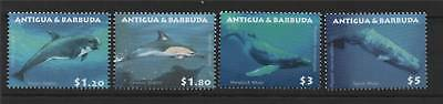 Antigua 2010 Whales/Dolphins 4v set NEW ISSUE MNH