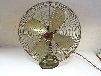 """Vintage 1970's Robbins & Myers Hunter 3 Speed Oscillating 19"""" Electric Fan 11063"""