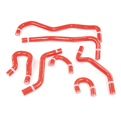 Tegiwa 7Pc Silicone Coolant Hose Kit For Honda Civic Eg Ek Ek9 B16A2 B16B Red