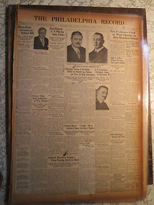 Magic Newspaper 1927 HOUDINI EXPOSE NEARLY RIOT + DRUCCI CHICAGO GANGSTER CHIEF