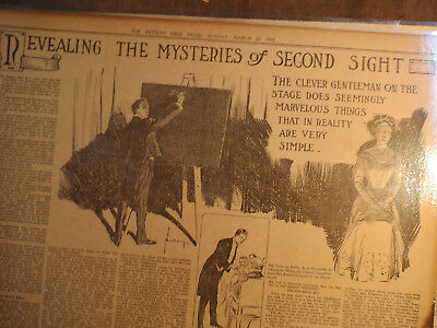 Magic Newspaper 1910 REVEALING MYSTERIES OF SECOND SIGHT BY CLEVER GENTLEMAN