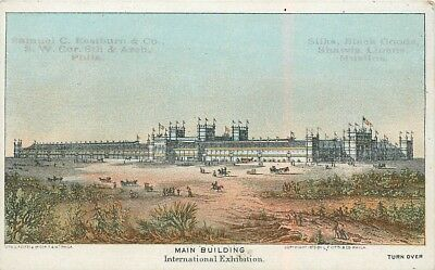 "2 3/4"" x 4 3/8"" (Main Building) 1876 Philadelphia Centennial Exposition Card"