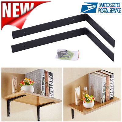 1 Pair Support Bracket Hidden Floating Shelf Wall Mount Support Brackets Decor