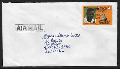 BARBUDA MAIL (ANTIGUA) CENTENARY ENGLISH CRICKET TOUR Commercially Used Cover