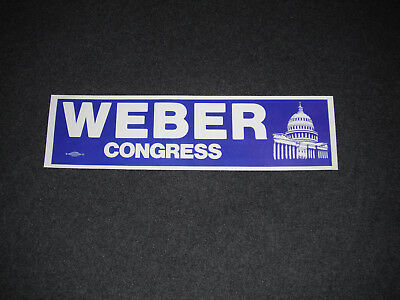 1980 Ed Weber For Congress Toledo Ohio Unused Bumper Sticker 9th District
