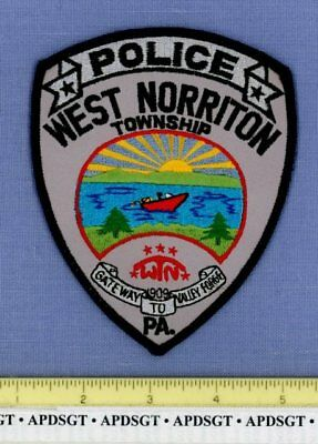 WEST NORRITON TOWNSHIP PENNSYLVANIA Sheriff Police Patch BOAT GATEWAY TO VALLEY