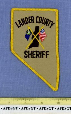 LANDER COUNTY SHERIFF NEVADA Police Patch STATE SHAPE COUNTY OUTLINE