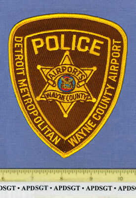 DETROIT METRO AIRPORT #2 MICHIGAN Sheriff Port Police Patch WAYNE COUNTY