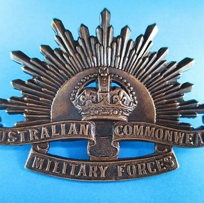 Original Ww1 Australian Army Anzac Rising Sun Badge For Diggers Slouch Hat