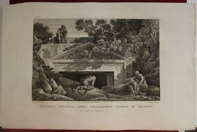 Cave Of Jehoshaphat Kidron Valley Israel 1798 Cassas Rare Antique Engraved View