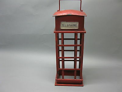 Metal Wine Rack Antique English Phone Booth 50cm High x 14cm x 13cm Shabby