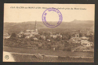 SAINT-CYR-au-MONT-D'OR (69) VILLAS & EGLISE en 1923