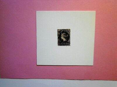 St HELENA: 1864 Queen Victoria 3d Deep purple Type B Ovpt F/Used Sg11