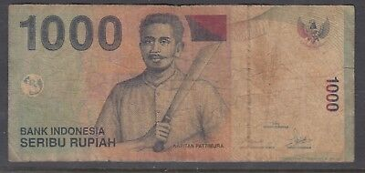 INDONESIA 2000 1000Rupiah Note Circulated.