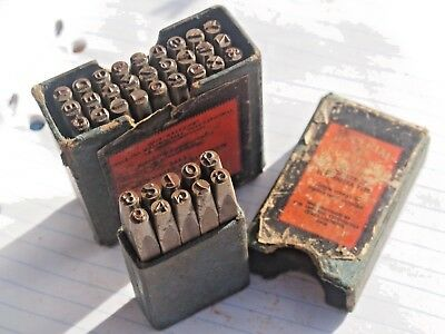 Vintage Letter & Number Punch Stamp Sets