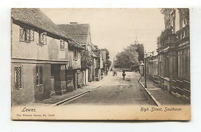 Southover High Street, Lewes - early Sussex postcard