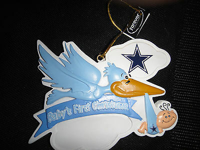 New Baby's First Christmas Ornament Boy Dallas Cowboys Nfl