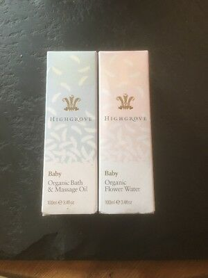 Highgrove Organic Baby Bath Massage Oil & Flower Water BNIB