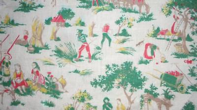 SUMMER CLEAROUT, c1930s FRENCH CHILDREN'S COTTON TOILE, REF,  157.