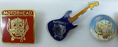 MOTORHEAD enamel Lapel Pin Badges x 2 POP MUSIC ROCK HEAVY METAL BAND inc GUITAR