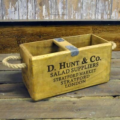 SALE SAVE 50%!! Vintage Wooden Fish Crate Trug Box Industrial Planter - Various