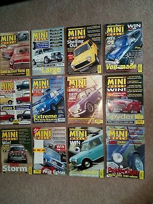 Mini World Magazine - all 12 issues from 1998 (FREE sticker still on Oct issue)