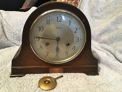 Vintage Bentina, Oak Cased Mantel Clock  WESTMINSTER  CHIME