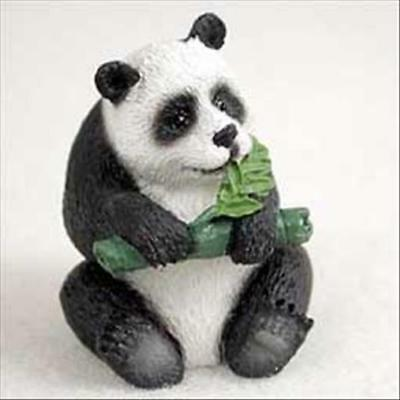 Panda Bear Animal Tiny One Miniature Small Hand Painted Figurine