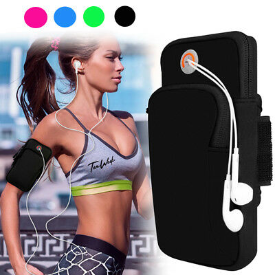 Sport Armband Running Jogging Gym Arm Band Pouch Holder Bag For Cell Phone Black