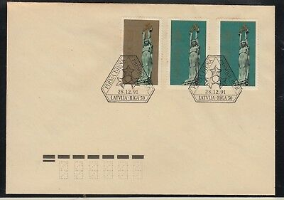 LATVIA 1991 Freedom Monuments FDC in Perfect Condition.