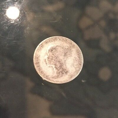 1866 Threepence Young Head