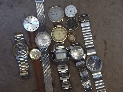 lot of  Old  Vintage Watches   Bits and pieces/ spares or repair Only
