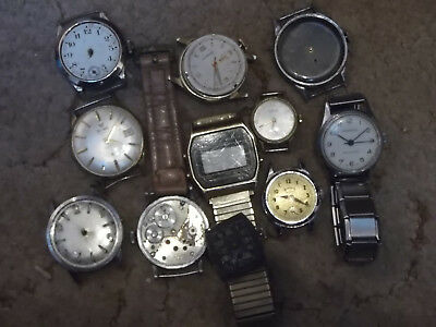 lot of  Old  Vintage Watches  bits and pieces / spares or repair Only
