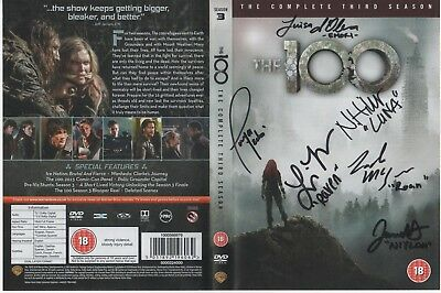 The 100 Third Season  DVD Cover Auto by 6 Actors
