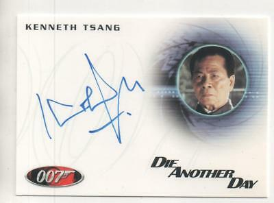 "James Bond: Die Another Day Auto Card No.A182 Kenneth Tsang ""General Moon"""