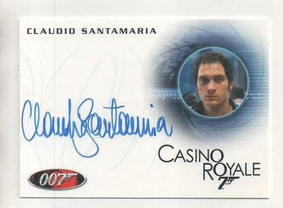 "James Bond: Casino Royale Auto Card No.A147 Claudio Santamaria ""Carlos"""