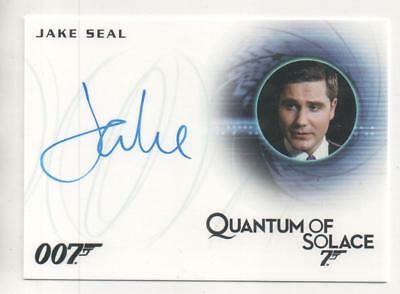 "James Bond: Quantum Solace Auto Card No.A276 Jake Seal ""Bartender"""