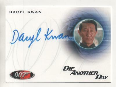"James Bond: Die Another Day Auto Card No.A232 Daryl Kwan  ""General Han"""