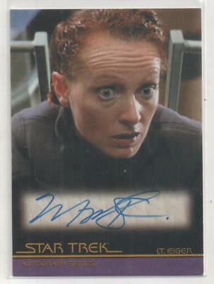 "Star Trek Movies Auto Trading Card No.A79 Marnie McPhail ""Lt. Eiger"""