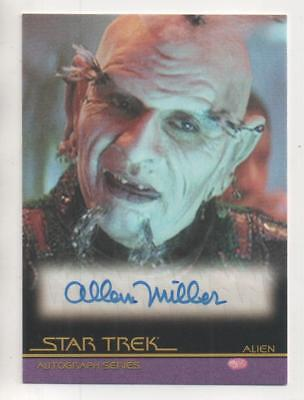 "Star Trek Movies Auto Trading Card No.A116 Allan Miller ""Alien"""