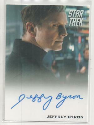 "Star Trek Movies 2014 Auto Trading Card Jeffrey Byron ""Test Administrator"""