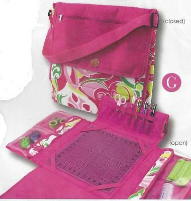 Portable Craft Station Macbeth Collection Flowers Hot Pink Cropper Hopper NEW