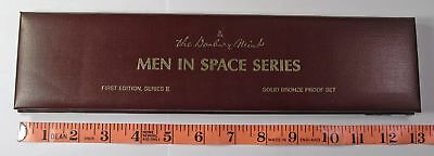 Danbury Mint 6 coin Bronze Proof Set First Edition Series II Men in Space