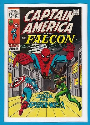"""Captain America & The Falcon #137_May 1971_Vf Minus_""""to Stalk The Spider-Man""""!"""