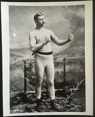 Superb Photograph Of  Legendary Heavyweight Champion John L. Sullivan In Pose!