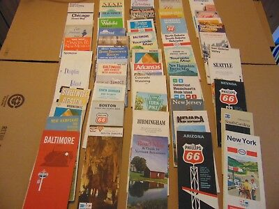 51  USA United States Highway City Road Maps Travel Guides etc 1960's -1990's