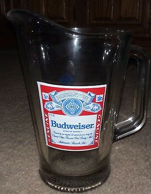 Budweiser Beer 60oz Pitcher Mint condition official Budweiser product
